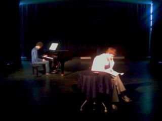 Julie Moulier et Mathieu El Fassi,  répétition