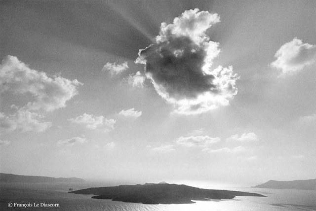Coucher de Soleil sur Santorin, F. Le Diascorn